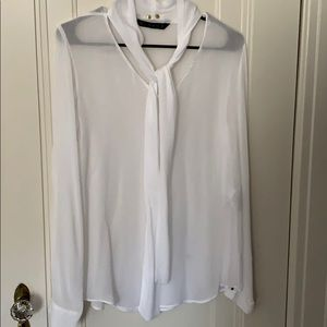 Zara tie-neck blouse